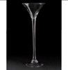 """Picture of Clear Glass Martini Vase with Long Stem 