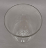 """Picture of Clear Glass Vase Cone Shape with Base  