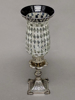 """Picture of Silver Mosaic Glass Hurricane Shade For Candle Holders or Candelabras Set/2  
