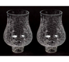 """Picture of Crackle Glass Hurricane Shade for Candle Holders or Candelabras Set/2  