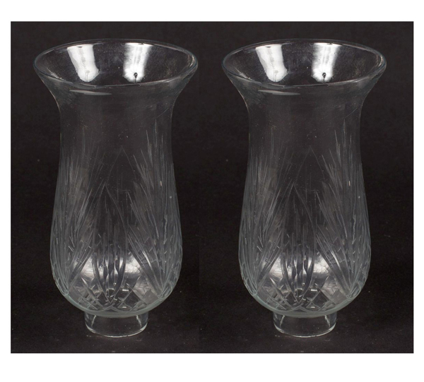 """Picture of Cut Glass Hurricane Shade for Candle Holders or Candelabras Set/2  