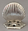 """Picture of Nickel Plated on Brass Card Holder Shell Design Set/4    2""""Wx2""""H    Item No. 79628"""