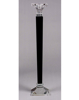 """Picture of Crystal Candle Holders Contemporary with Black Stem Graduated Set/3  