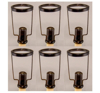 """Picture of Bronze Finish on Brass Candle Follower for Taper Candle set/6    2.63""""Dx4.5""""H    Item No. 01682"""