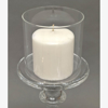 """Picture of Clear Glass Candle Holder For Pillar or Taper Candle Set/3  