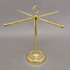 """Picture of Brass Display Stand for Watches, Jewelry or Hand Towels  4-arms Ring Hook to Carry    16""""Wx16""""H    Item No. 02214"""