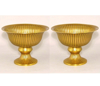 """Picture of Antique Gold Bowl Revere Style with Pedestal Set/2   8""""Dx6""""H   Item No. 51362"""