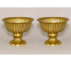 """Picture of Antique Gold Bowl Revere Style with Pedestal  Set/2 