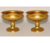 """Picture of Antique Gold Bowl with Pedestal & Ribs  Set/2    8""""Dx6""""H   Item No. 51482"""