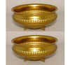 """Picture of Antique Gold Bowl Low with Embossed Feet  Set/2 