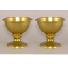 """Picture of Antique Gold Bowl with Pedestal & Smooth Finish  Set/2  